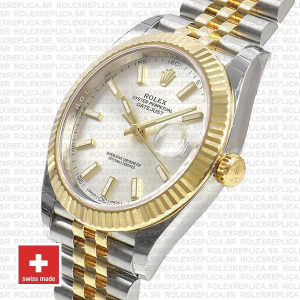 Rolex Datejust 41 Jubilee Bracelet Two-Tone 18k Yellow Gold