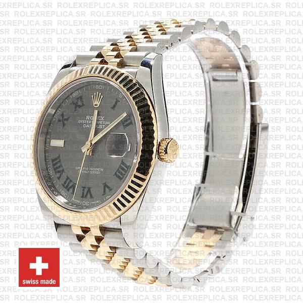 Rolex Datejust Two-Tone Jubilee Grey Dial Roman Watch
