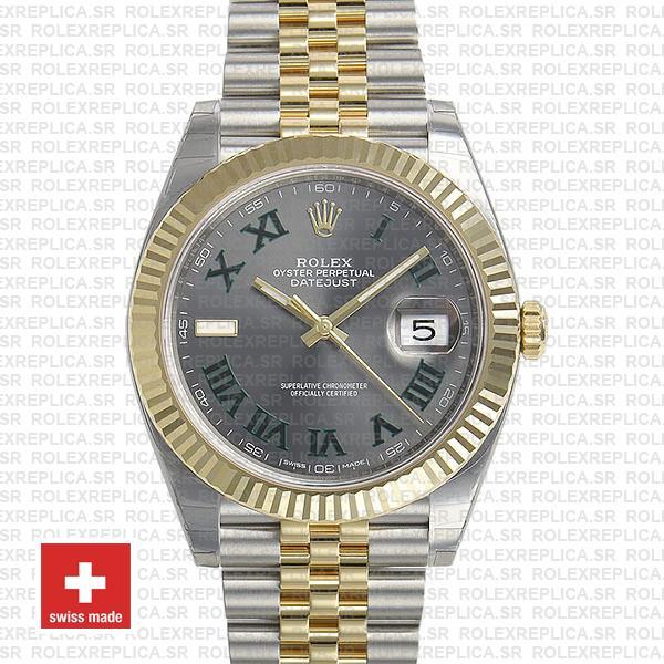Rolex Datejust Two-Tone Jubilee | Grey Dial Roman Watch