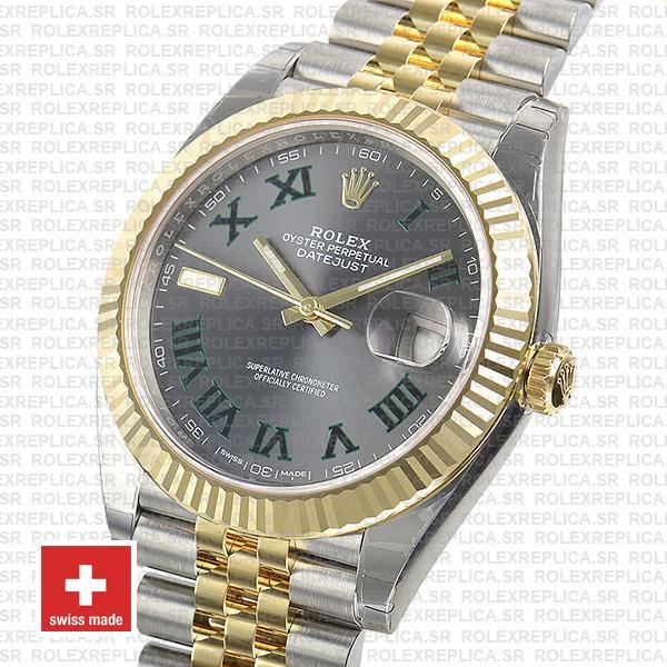 Rolex Datejust Two-Tone Jubilee Grey Dial Roman