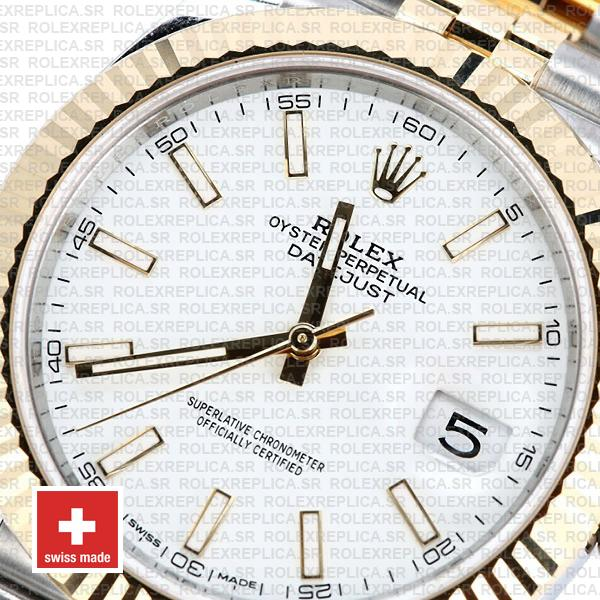 Rolex Oyster Perpetual Datejust 41 Jubilee Two-Tone 18k Yellow Gold Steel Fluted Bezel