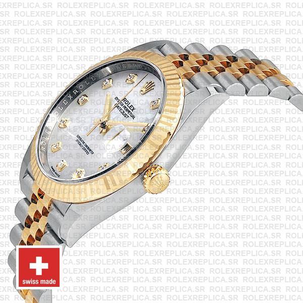 Rolex Datejust 41mm Jubilee Bracelet Two-Tone 18k Yellow Gold Fluted Bezel