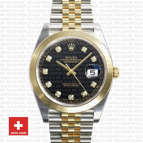 Rolex Oyster Perpetual Datejust 41 Two-Tone, Stainless Steel 18k Yellow Gold Smooth Bezel