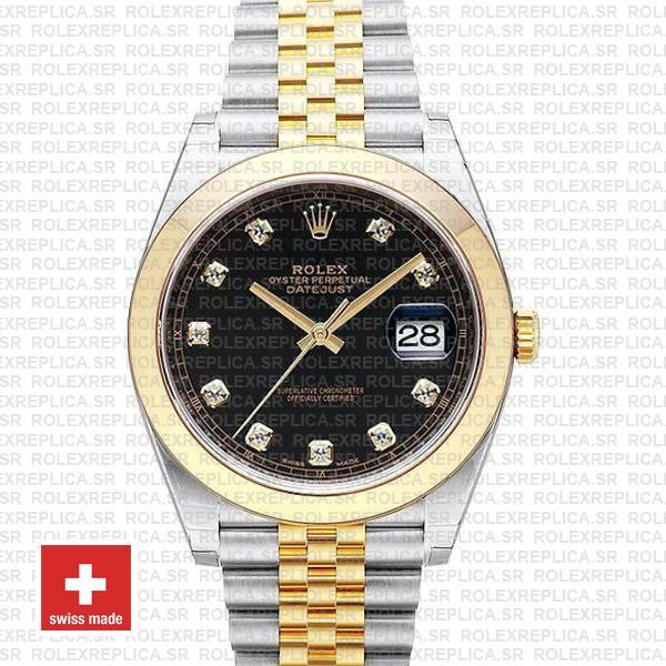 Rolex Datejust 41mm Black Dial Diamonds Jubilee Rolex Watch