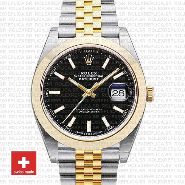 Rolex Datejust 41 Two-Tone Black Dial Jubilee Swiss Replica