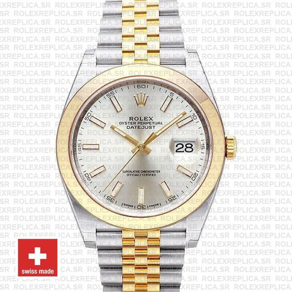 Rolex Datejust 41 Jubilee Two-Tone Silver Dial Rolex Replica