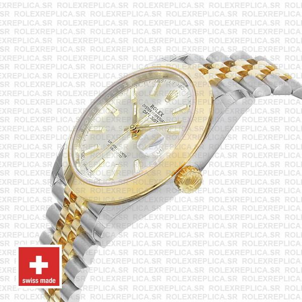 Rolex Datejust 41 Jubilee Two-Tone Stainless Steel 18k Yellow Gold Smooth Bezel