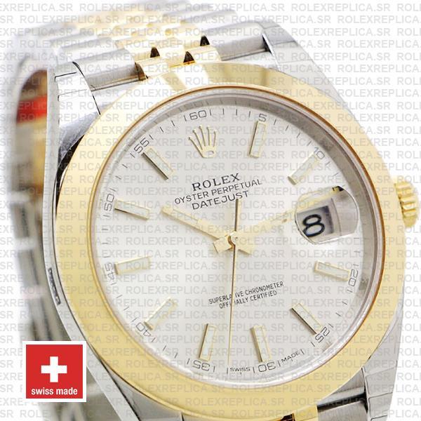Rolex Datejust 41 Jubilee Two-Tone Silver Dial
