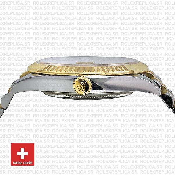 Rolex Datejust 41 Jubilee 2 Tone 18k Yellow Gold Swiss Replica Fluted