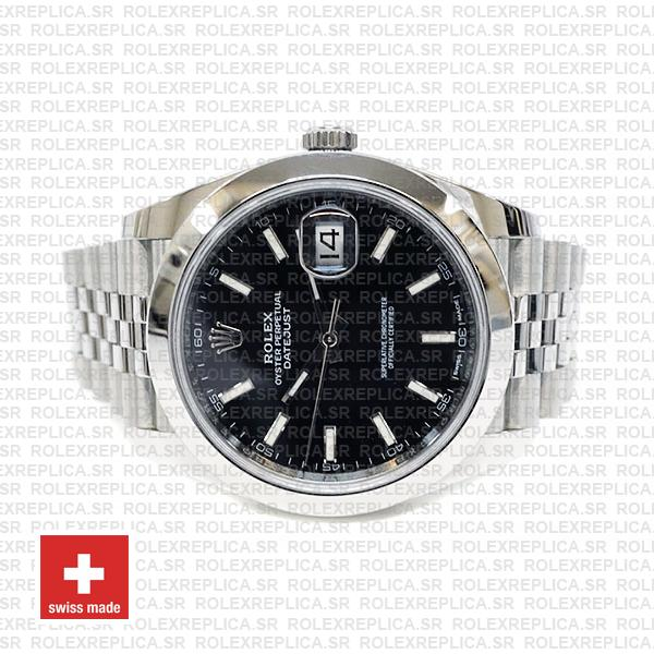 Rolex Oyster Perpetual Datejust 41 Stainless Steel Black Dial