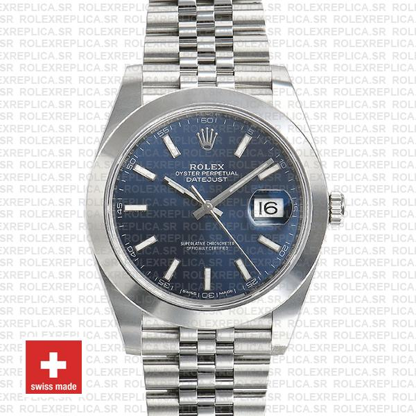 Rolex Datejust 41mm Stainless Steel Blue Dial