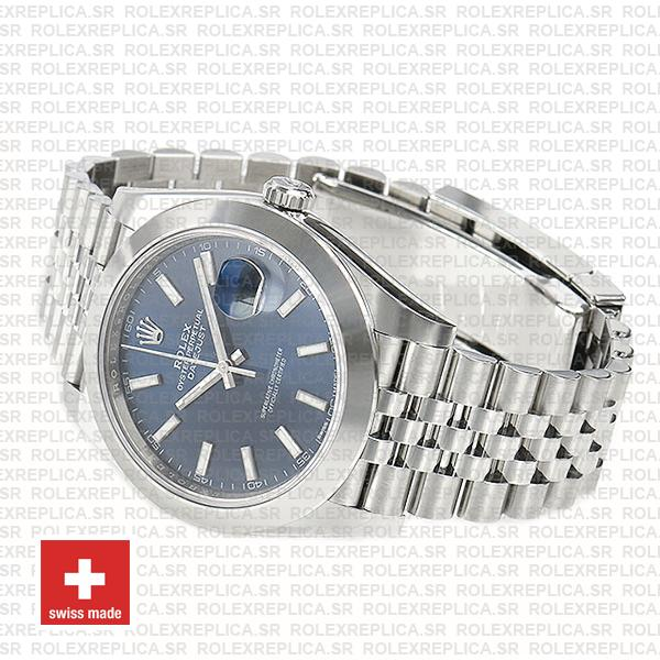 Rolex Datejust 41mm Stainless Steel Blue Dial Replica