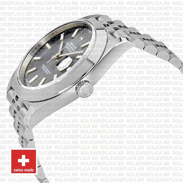 Rolex Datejust 41 Grey Dial Steel Jubilee Bracelet Swiss Replica Watch