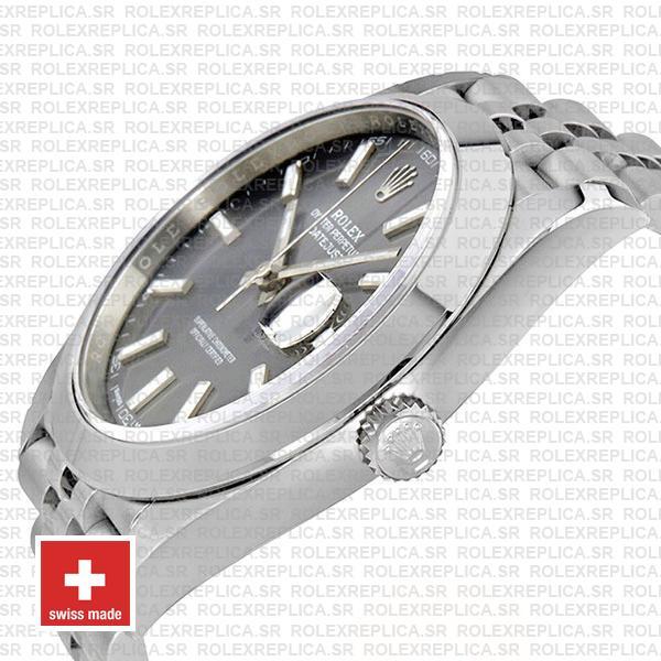 Rolex Datejust 41 Grey Dial Steel Jubilee Bracelet Swiss Replica