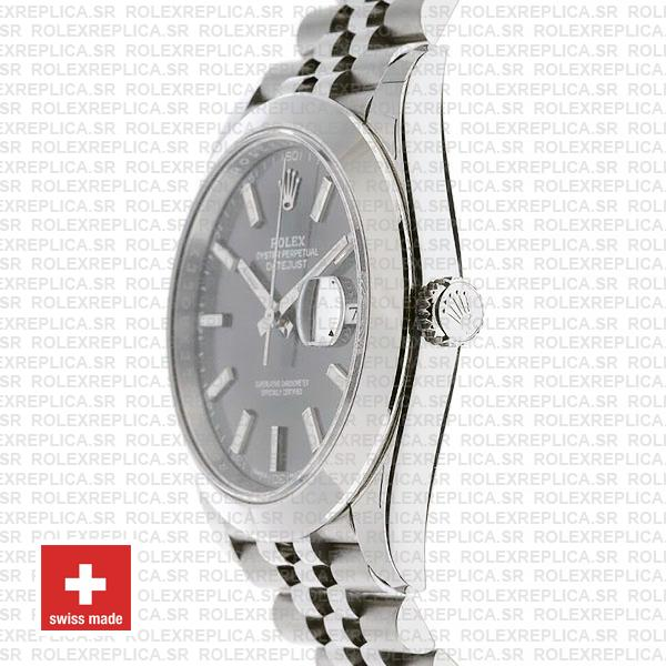Rolex Datejust 41 Grey Dial Steel Jubilee Bracelet