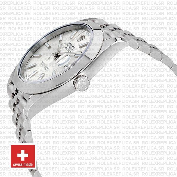 Rolex Datejust 41mm Steel Silver Dial Replica Watch