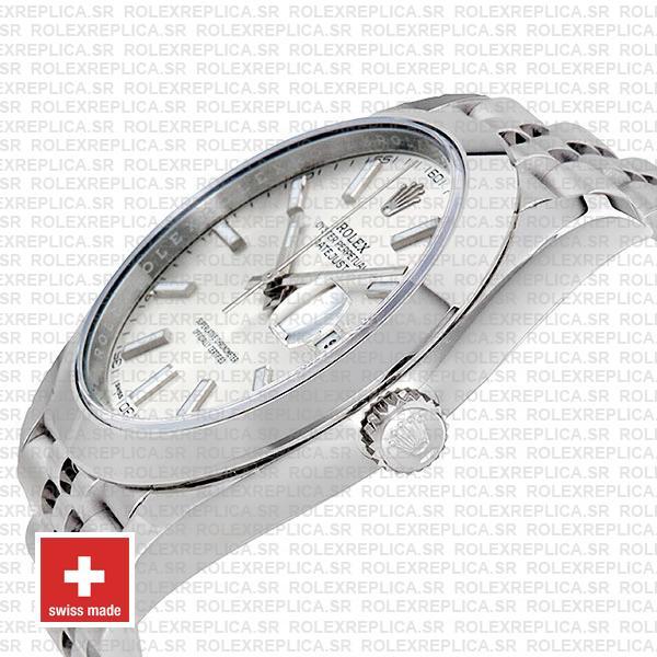 Rolex Datejust 41mm Steel Silver Dial Replica
