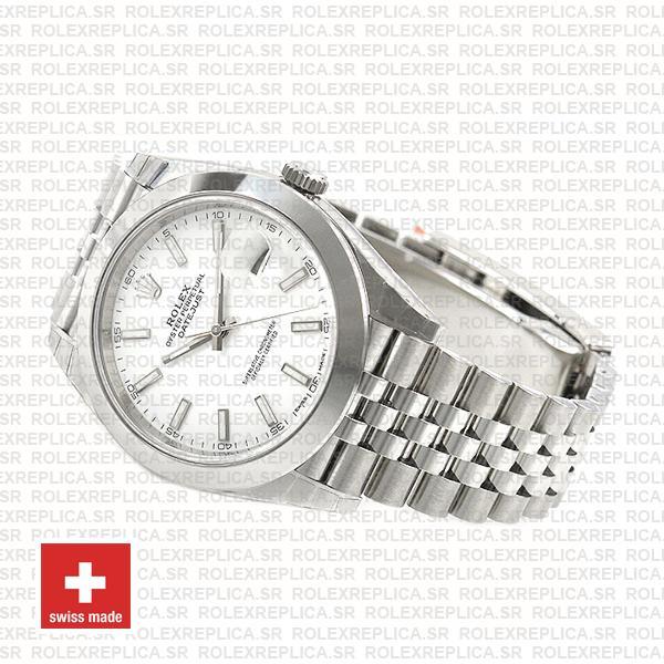 Rolex Datejust 41 904L Steel White Dial Replica