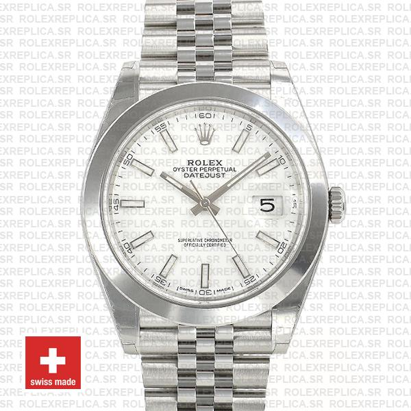 Rolex Datejust 41 904L Steel White Dial