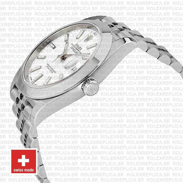 Rolex Datejust 904L Stainless Steel White Dial 41mm with Jubilee Bracelet & Smooth Bezel