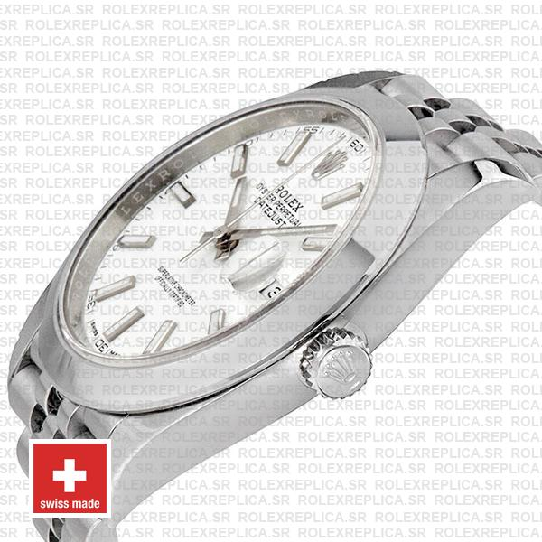 Rolex Datejust 904L Stainless Steel White Dial 41mm with Jubilee Bracelet & Smooth Bezel Watch