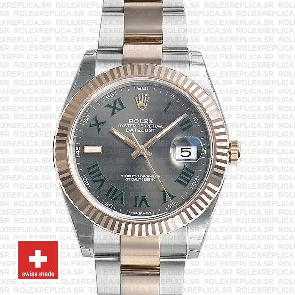 Rolex Datejust 41mm Two-Tone | Slate Grey Roman Dial Watch