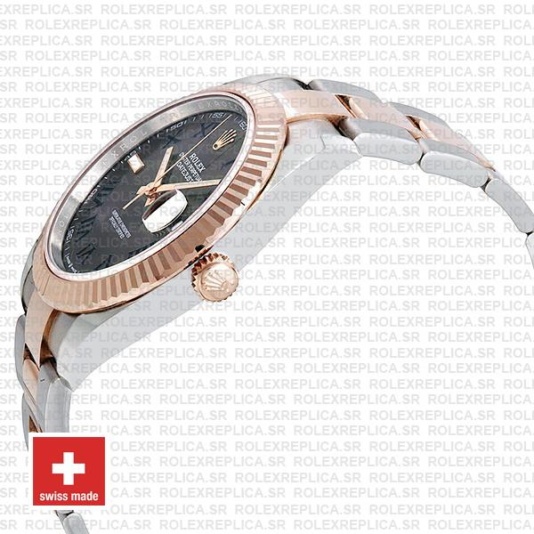 Rolex Datejust Two-Tone 18k Rose Gold Slate Grey Roman Dial