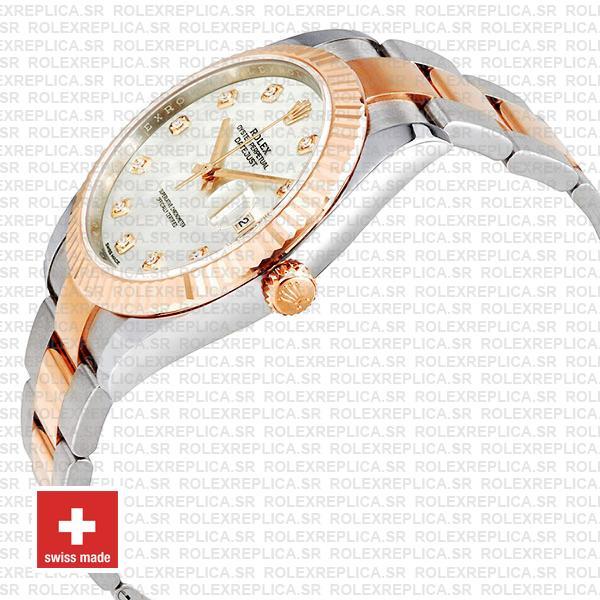 Rolex Datejust 41 Two-Tone White Diamond Dial Swiss Replica Watch