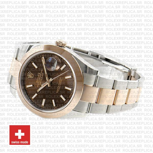 Rolex Datejust 41 Two-Tone 904L Stainless Steel 18k Rose Gold