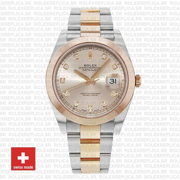 Rolex Datejust 41 Pink Diamond Dial Rose Gold