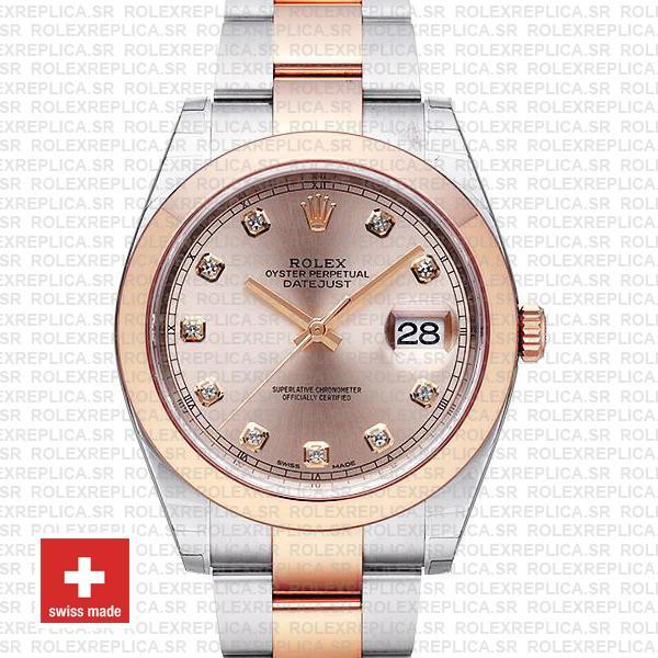 Rolex Datejust 41 Pink Diamond Dial Rose Gold | Rolex Replica