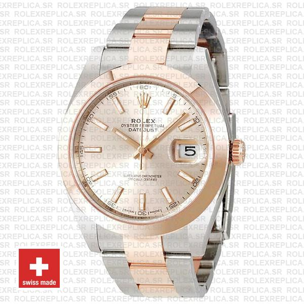 Rolex Datejust 41 Pink Dial Rose Gold Two-Tone