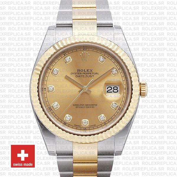 Rolex Datejust 41 Two-Tone Gold Diamonds Dial | Rolex Replica