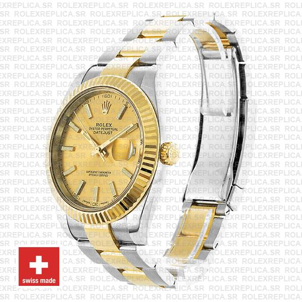 Rolex Oyster Perpetual Datejust 41, 18k Yellow Gold Two-Tone Gold Dial