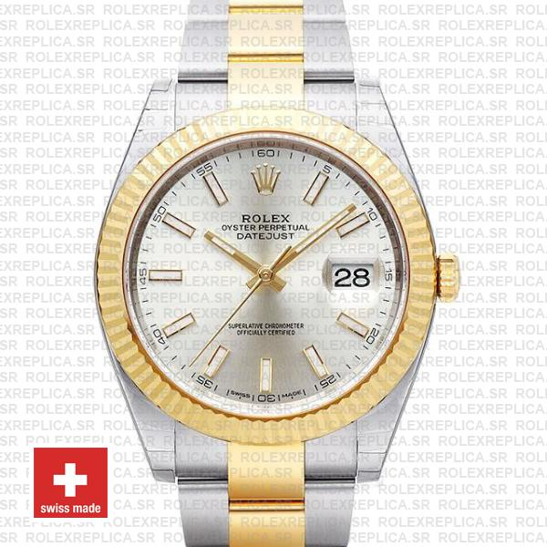 Rolex Datejust 41 Two-Tone Silver Dial | Rolex Replica Watch