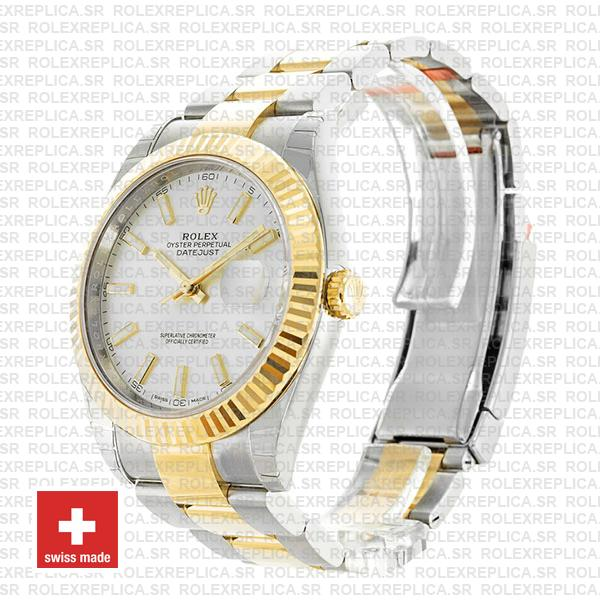 Rolex Datejust 41 Two-Tone Silver Dial