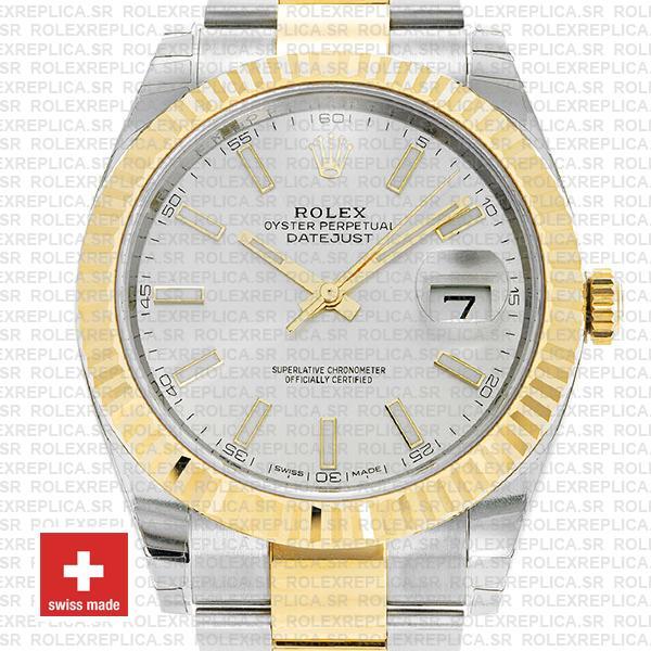 Rolex Datejust 41 Two-Tone Silver Dial Replica Watch