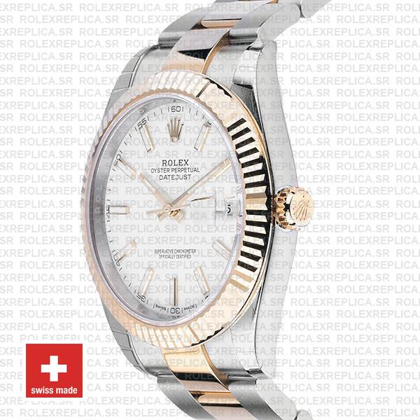 Rolex Datejust White Dial Two Tone 41mm Watch RolexReplica