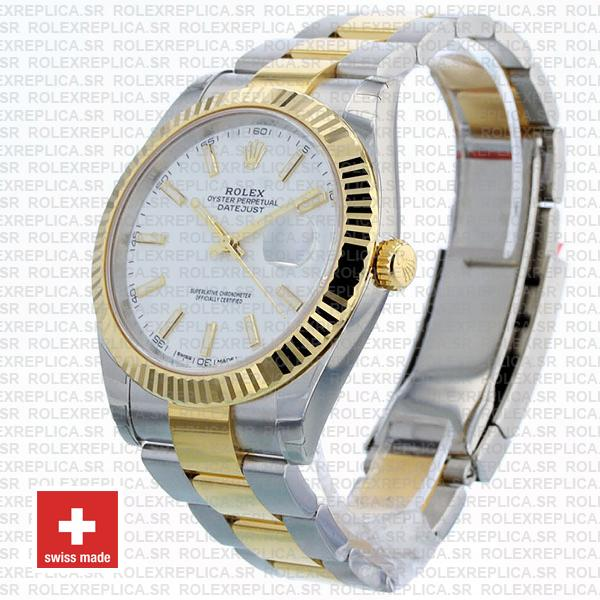Rolex Datejust White Dial Two Tone 41mm Replica Watch