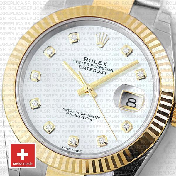 Rolex Datejust Two-Tone 18k Yellow Gold Fluted Bezel