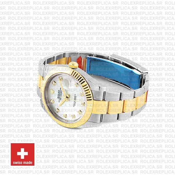 Rolex Datejust 41 Two-Tone White Dial Diamonds