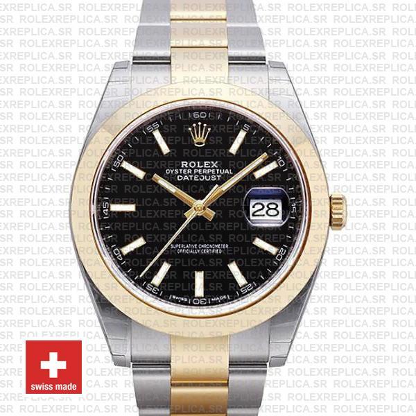 Rolex Datejust 41 Two-Tone Gold Black Dial | Replica Watch