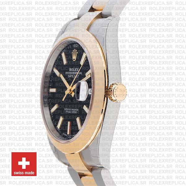 Rolex Datejust 41 Two-Tone Gold Black Dial Replica Watch