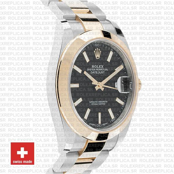 Rolex Datejust 41 Two-Tone Gold Black Dial Rolex Replica Watch