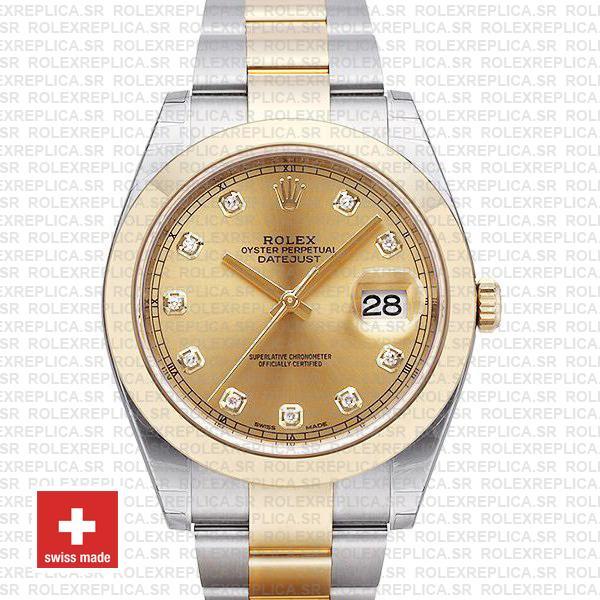 Rolex Datejust 41mm Two-Tone Gold Diamonds | Rolex Replica