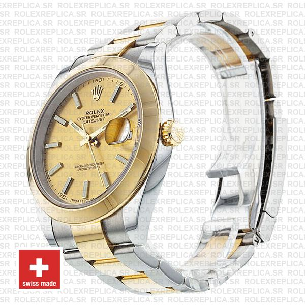 Rolex Oyster Perpetual Datejust 18k Yellow Gold Two-Tone