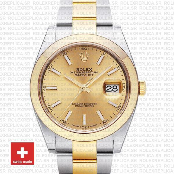 Rolex Datejust Two-Tone 41mm Gold Dial | Rolex Replica Watch