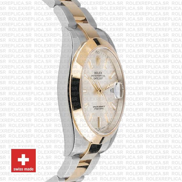 Rolex Datejust 41 Silver Dial Two-Tone Watch Rolex Replica
