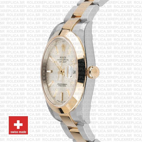 Rolex Datejust 41 Silver Dial Two-Tone Watch Rolex Replica Watch