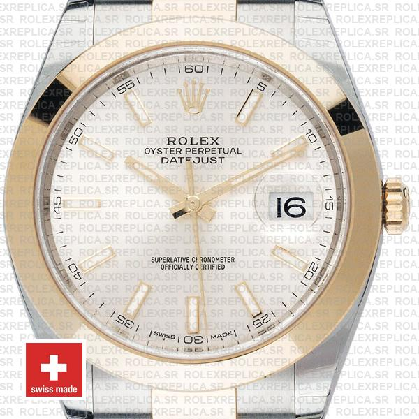 Rolex Datejust 41 Silver Dial Two-Tone Watch Replica Watch